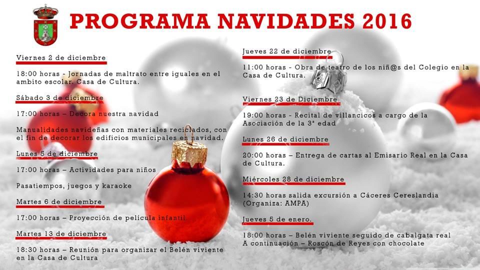 Programa Navidades 2016 - Berzocana