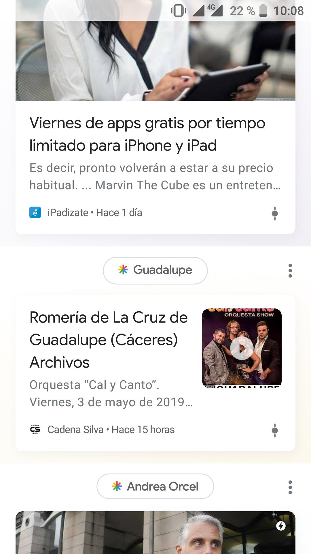 Cadena Silva comienza a aparecer en Google Discover