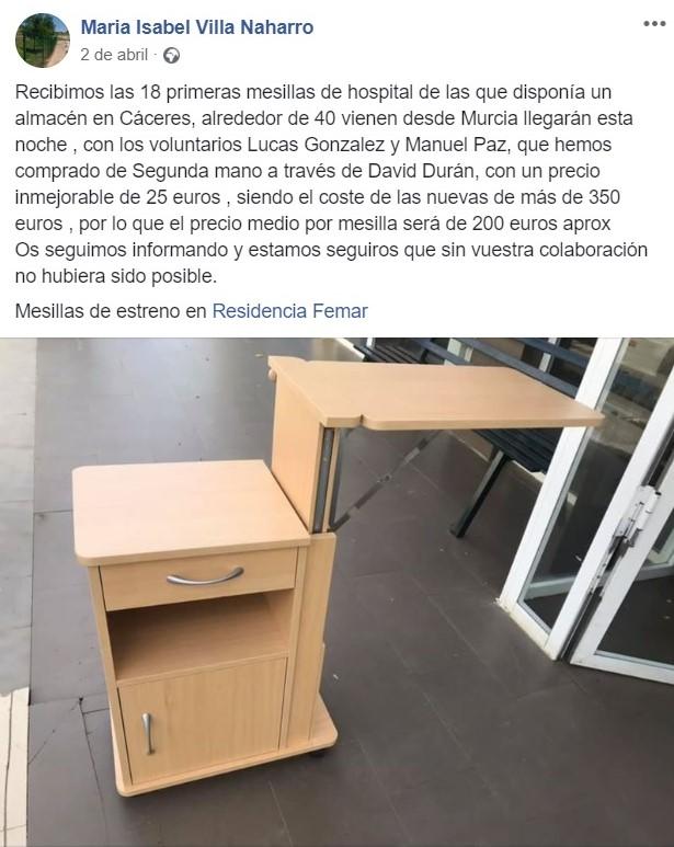 Cadena Silva ayudó económicamente a la residencia de Logrosán (Cáceres) 2020 2