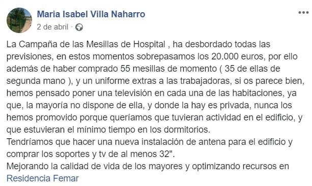 Cadena Silva ayudó económicamente a la residencia de Logrosán (Cáceres) 2020 3
