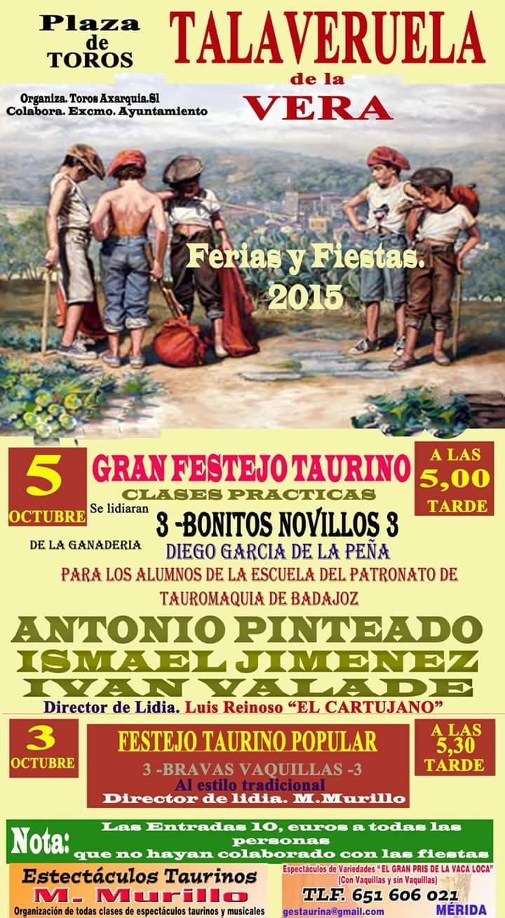 Festejos Taurinos 2015 - Talaveruela de la Vera