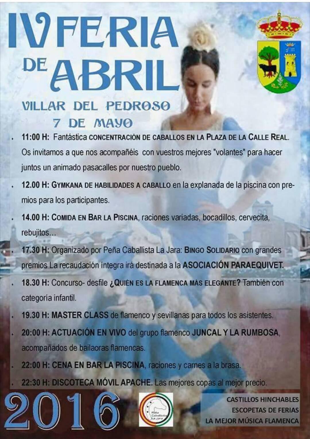 IV Feria de Abril - Villar del Pedroso (Cáceres)