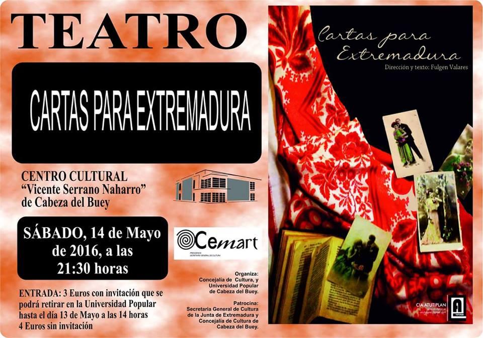 Teatro Cartas para Extremadura 2016 - Cabeza del Buey (Badajoz)