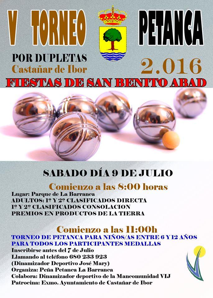 V Torneo de petanca - Castañar de Ibor (Cáceres)