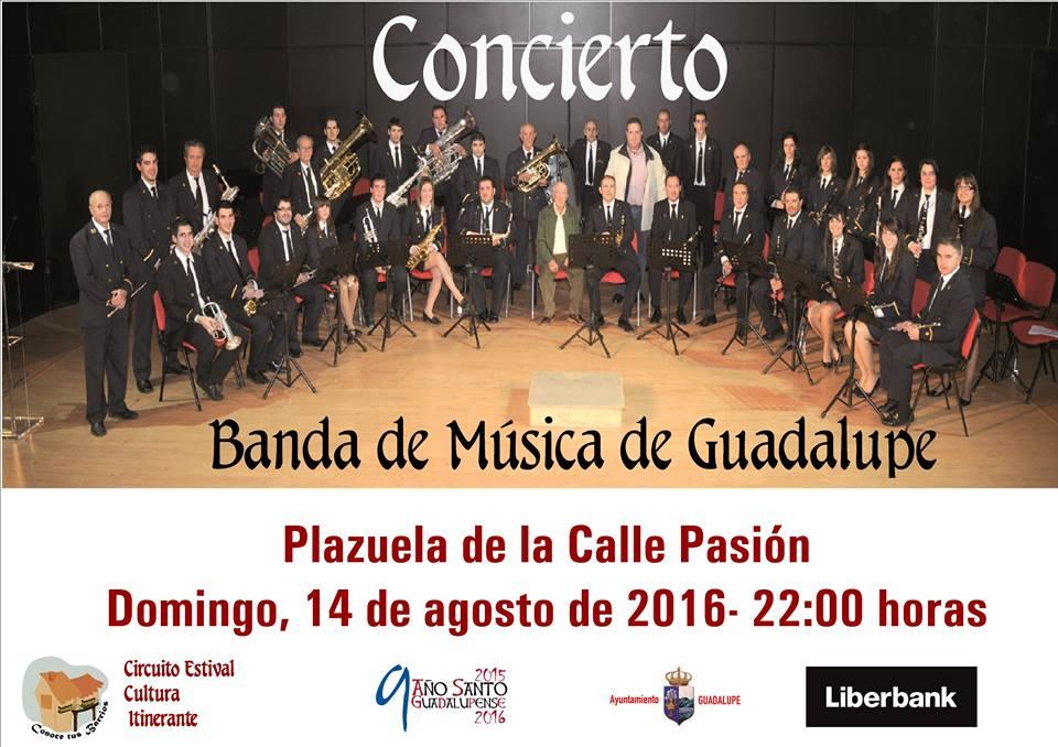 Concierto de la Banda de Música de Guadalupe agosto 2016 - Guadalupe (Cáceres)