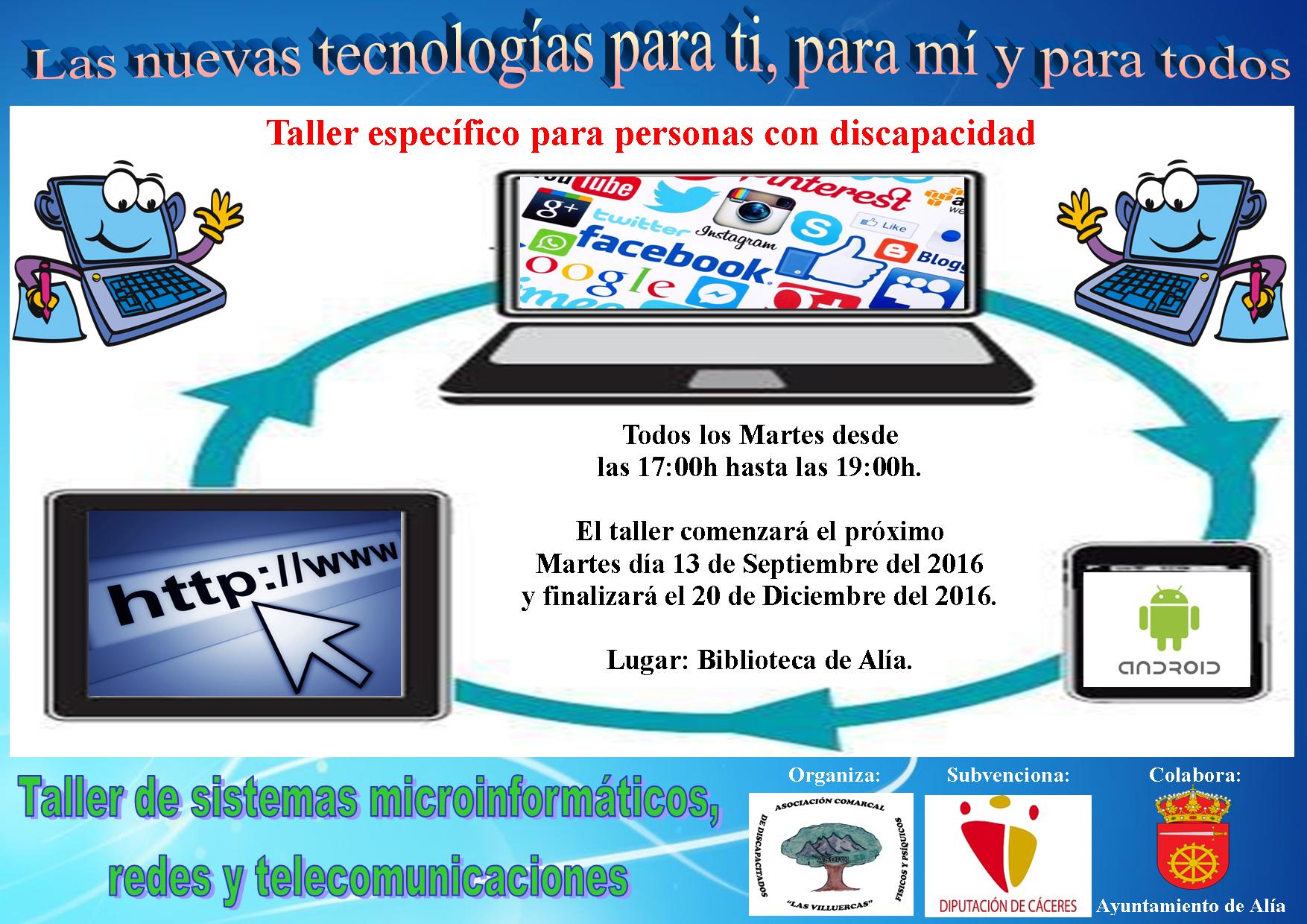 Taller de Sistemas microinformáticos, redes y telecomunicaciones 2016 - Alía