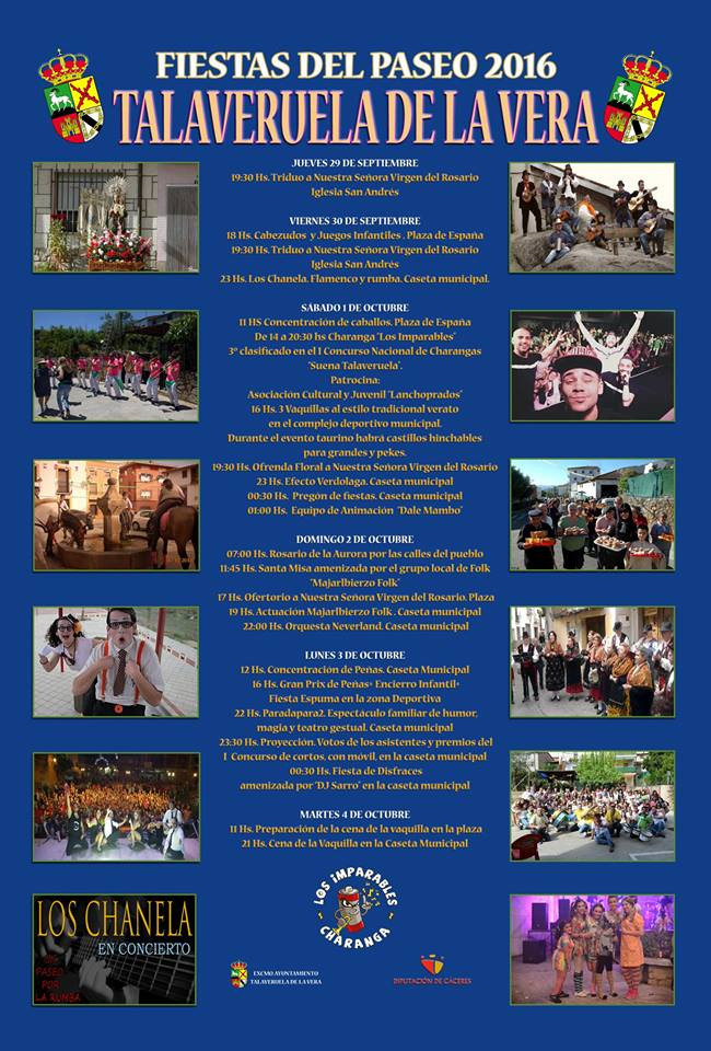 Fiestas del Paseo 2016 - Talaveruela de la Vera (Cáceres)
