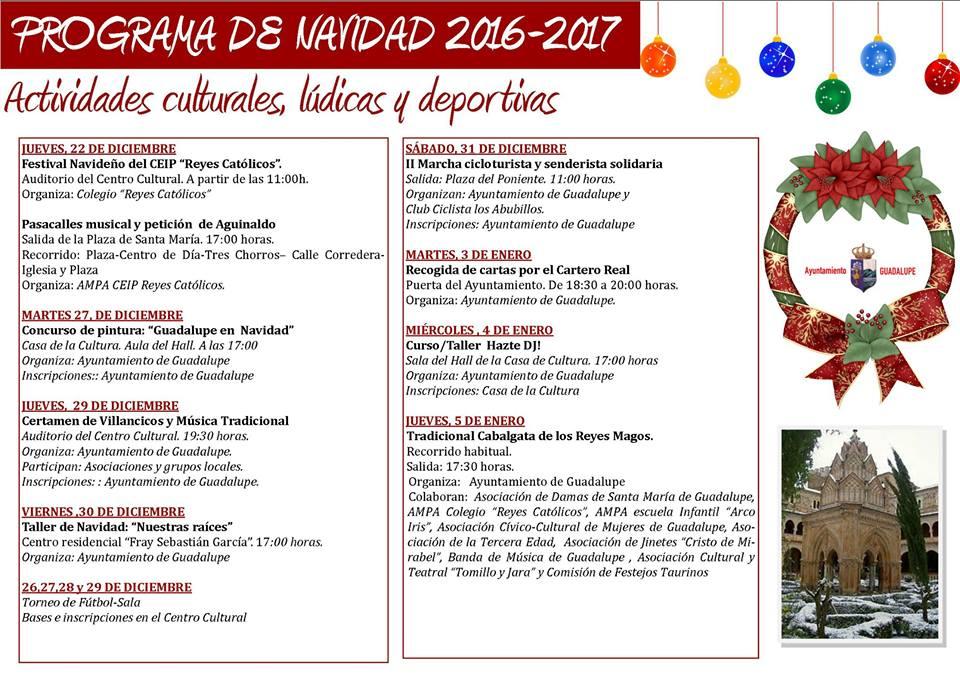 Programa de navidad 2016-2017 - Guadalupe