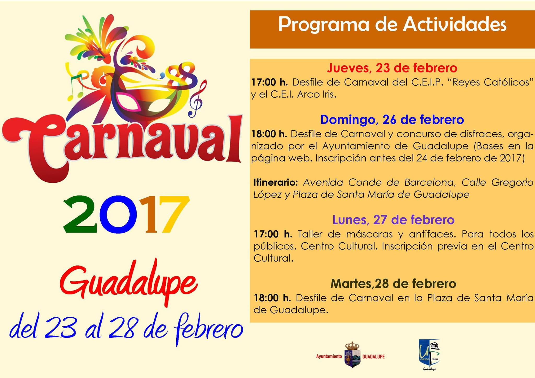 Carnaval 2017 - Guadalupe