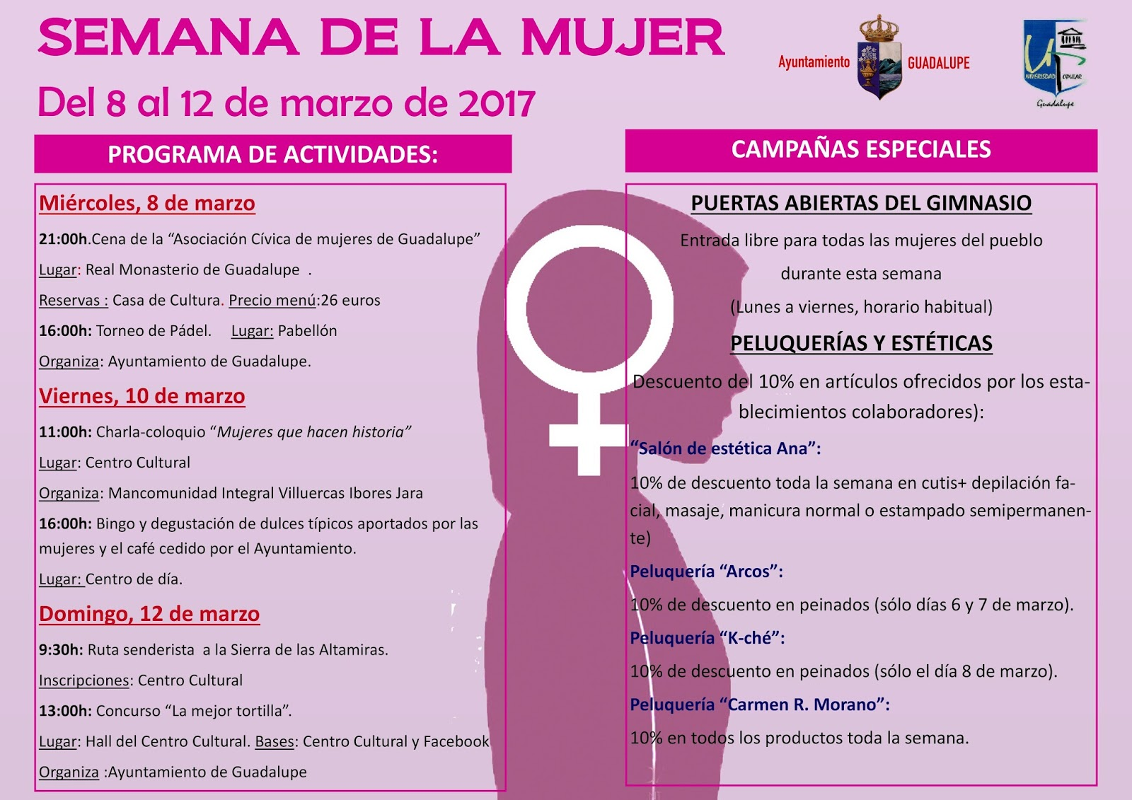 Semana de la mujer 2017 - Guadalupe
