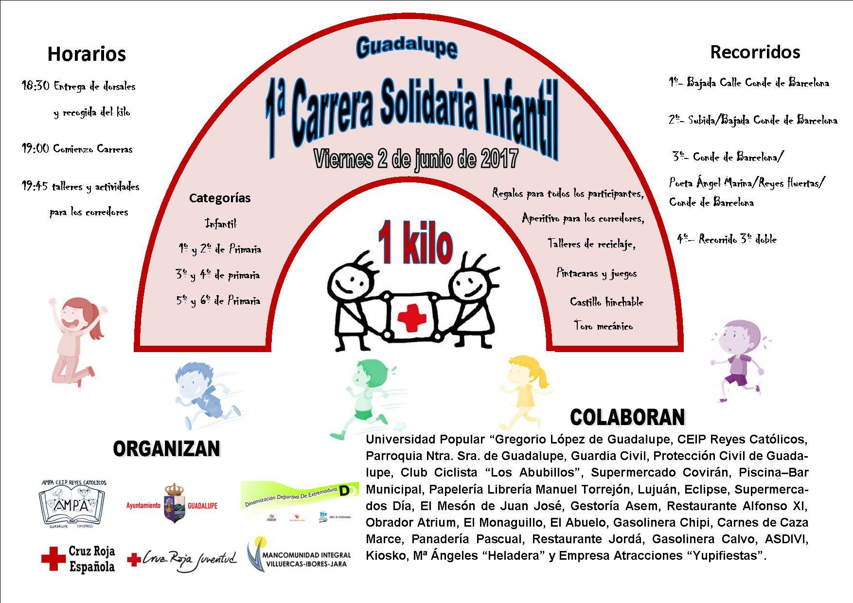 I Carrera solidaria infantil - Guadalupe