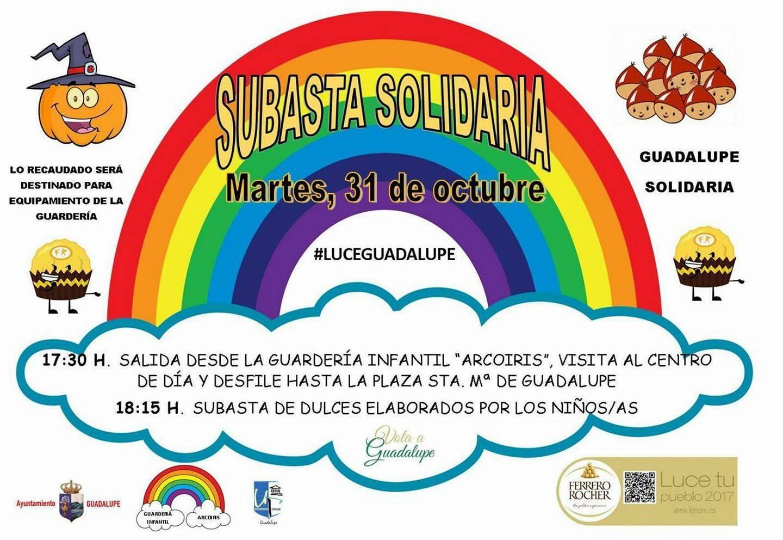 Subasta solidaria para la guardería infantil 2017 - Guadalupe (Cáceres)