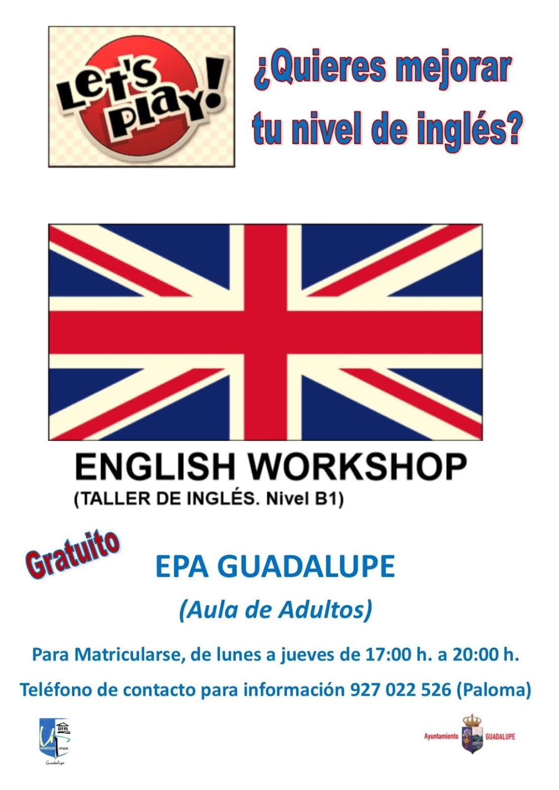 Inglés B1 2018 - Guadalupe