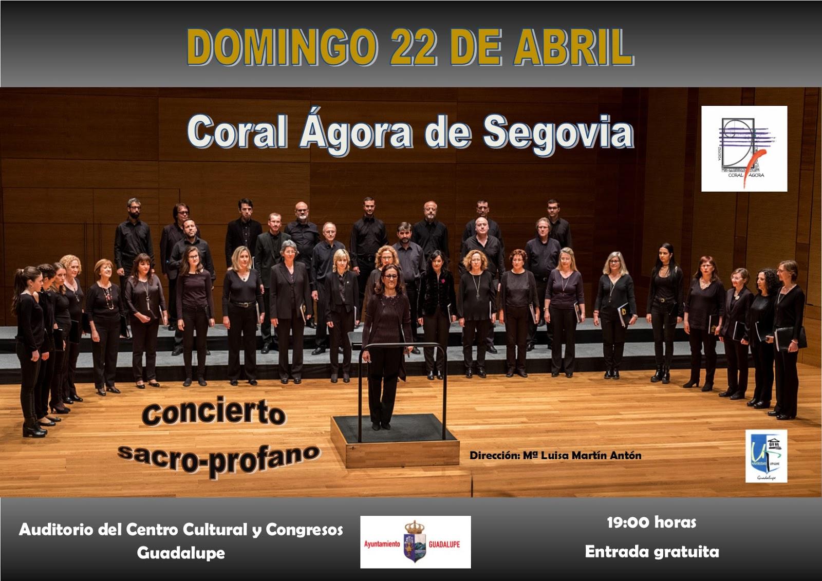 Concierto Coral Ágora de Segovia 2018 - Guadalupe