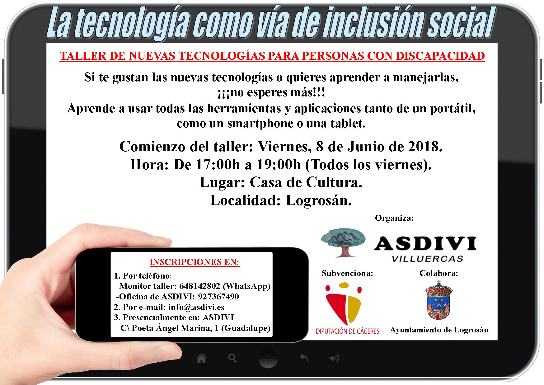 Taller de nuevas tecnologías para personas con discapacidad 2018 - Logrosán