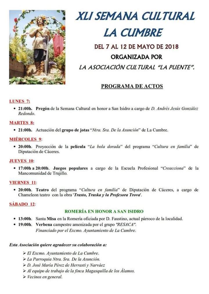 XLI Semana Cultural - La Cumbre