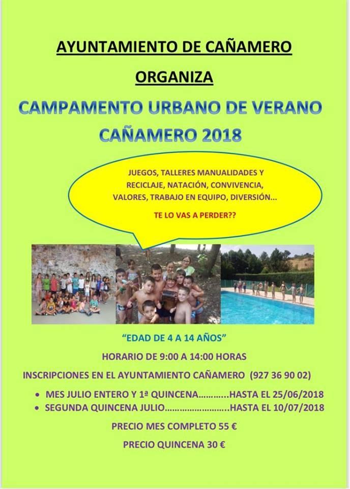 Campamento urbano de verano 2018 - Cañamero