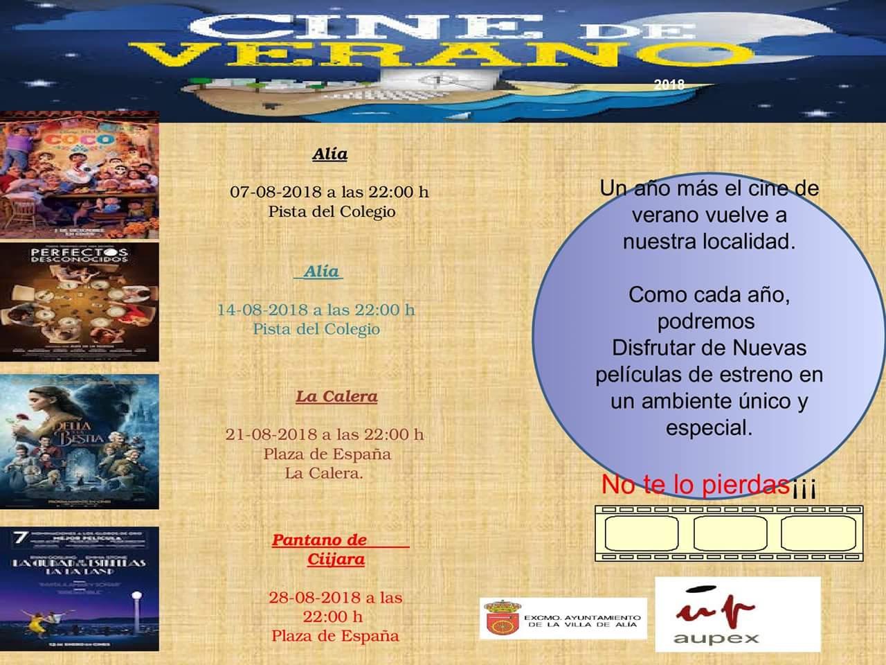 Cine de verano 2018 - Alía (Cáceres)