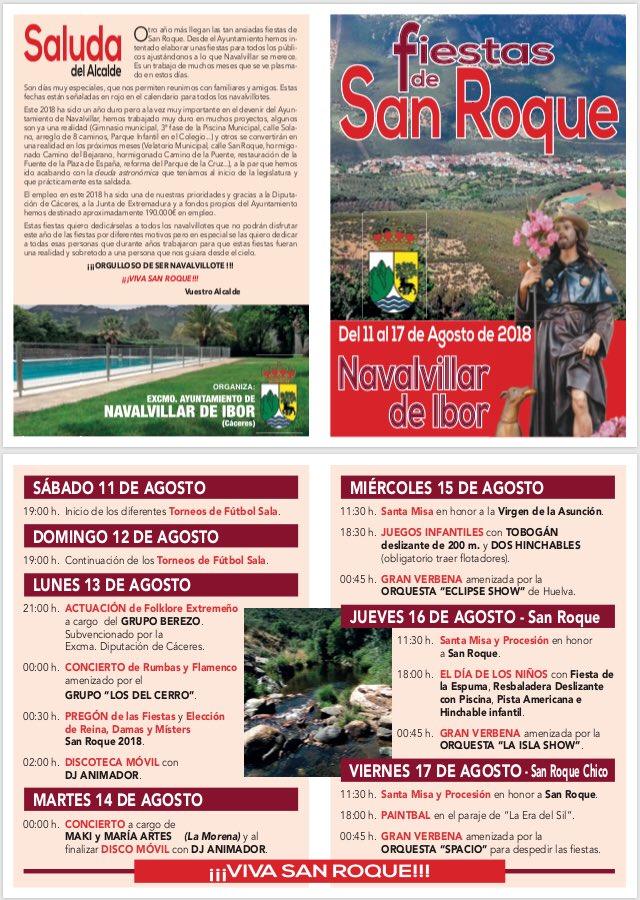 Fiestas de San Roque 2018 - Navalvillar de Ibor