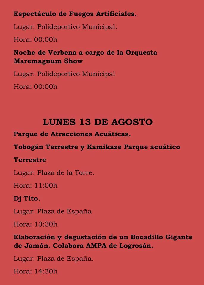 Fiestas patronales 2018 - Logrosán 10