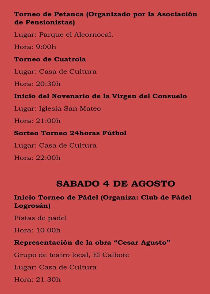 Fiestas patronales 2018 - Logrosán 3