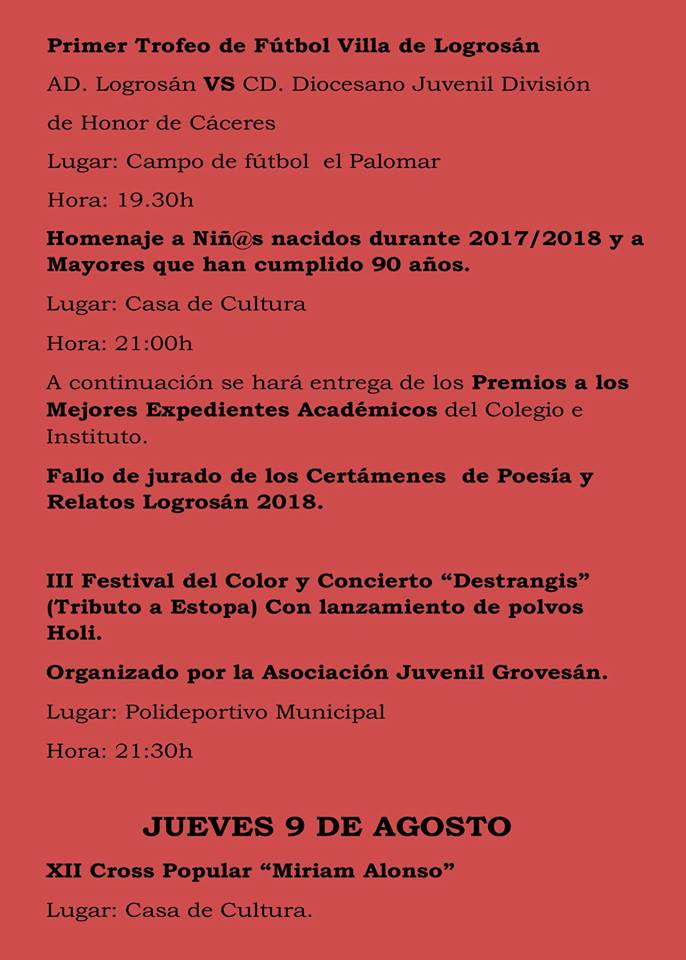 Fiestas patronales 2018 - Logrosán 6