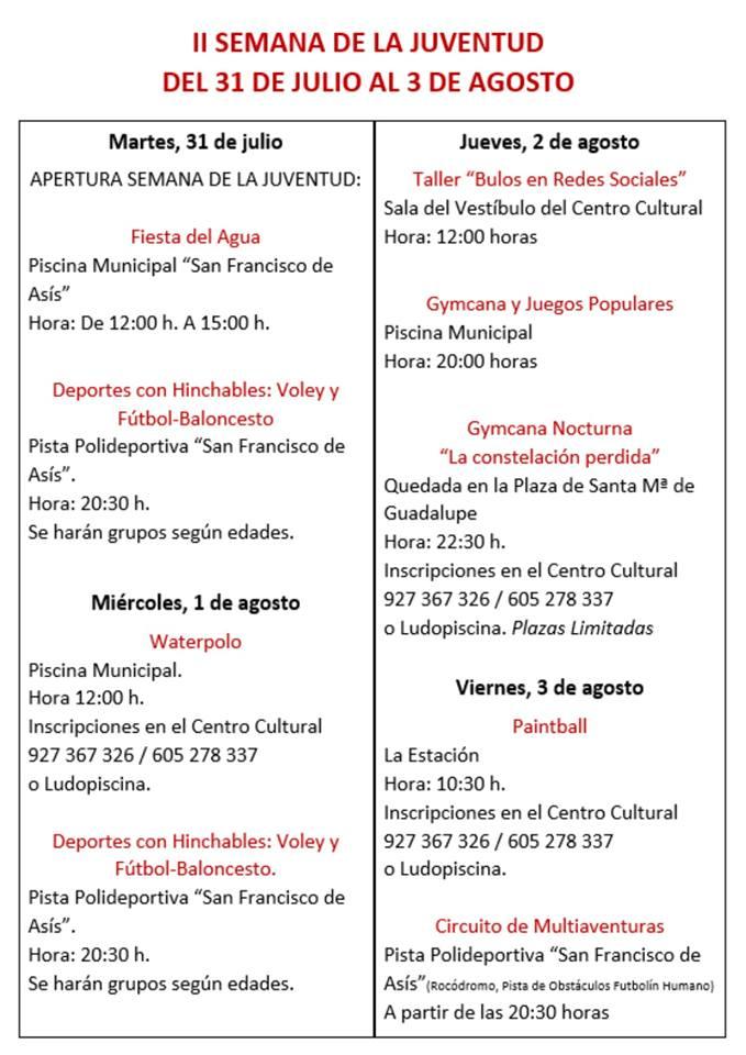 II Semana de la juventud - Guadalupe 2