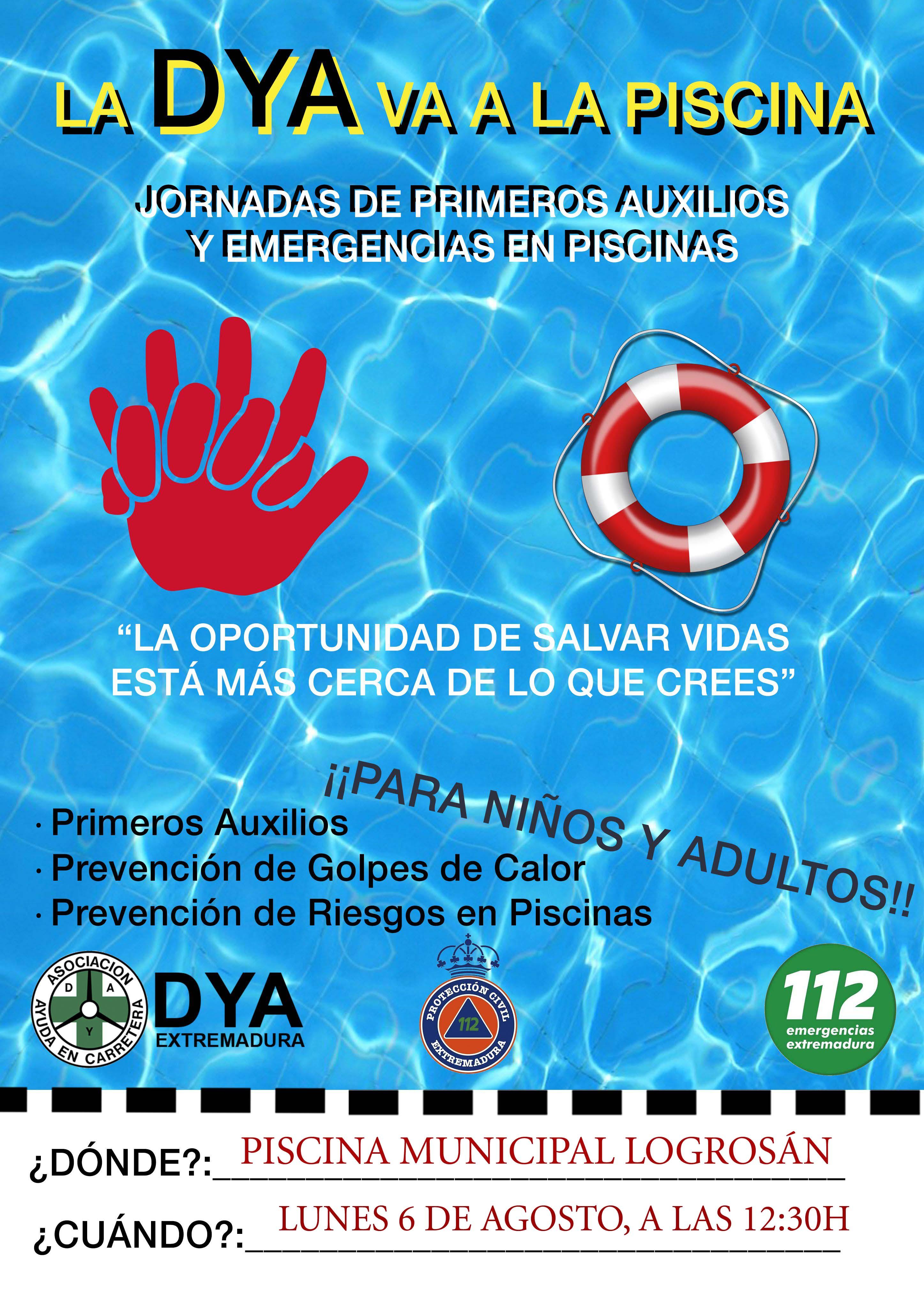 Jornadas de primeros auxilios y emergencias en piscinas 2018 - Logrosán