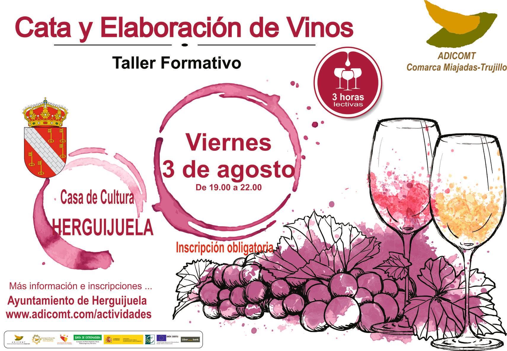 Taller de cata y elaboración de vinos 2018 - Herguijuela (Cáceres)