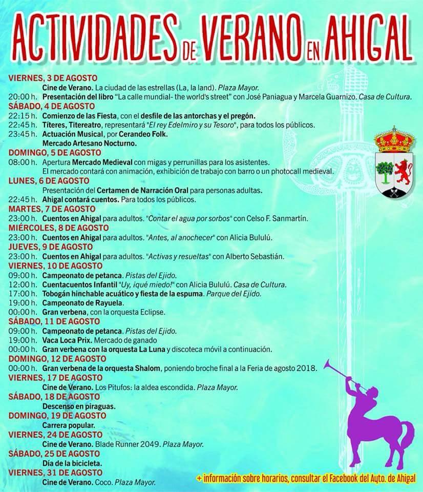 Actividades de verano 2018 - Ahigal
