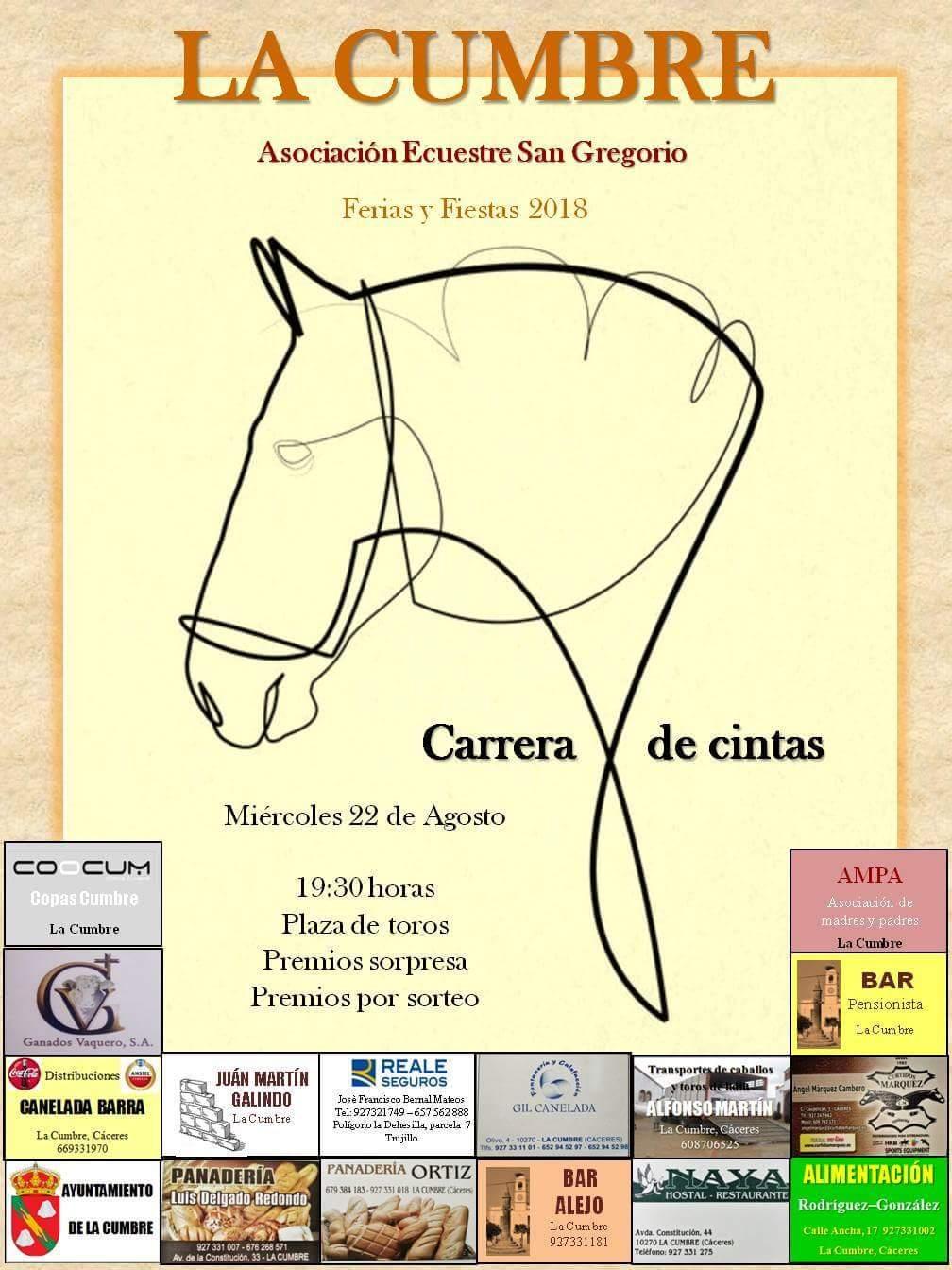 Carrera de cintas 2018 - La Cumbre (Cáceres)
