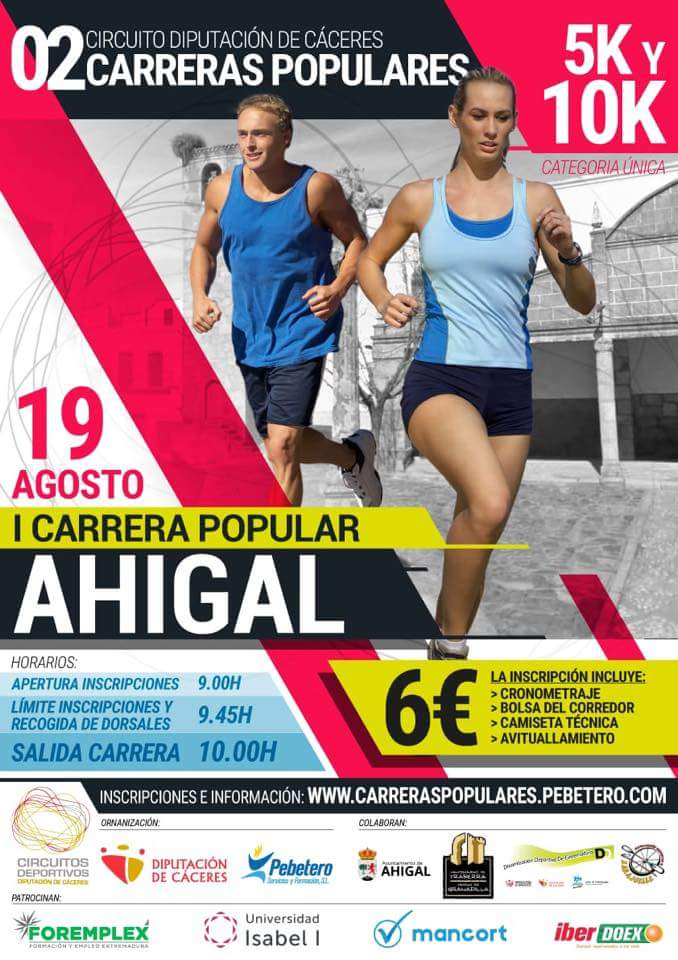 Carrera popular 2018 - Ahigal