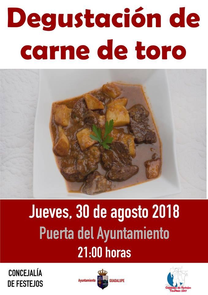 Degustación de carne de toro 2018 - Guadalupe (Cáceres)