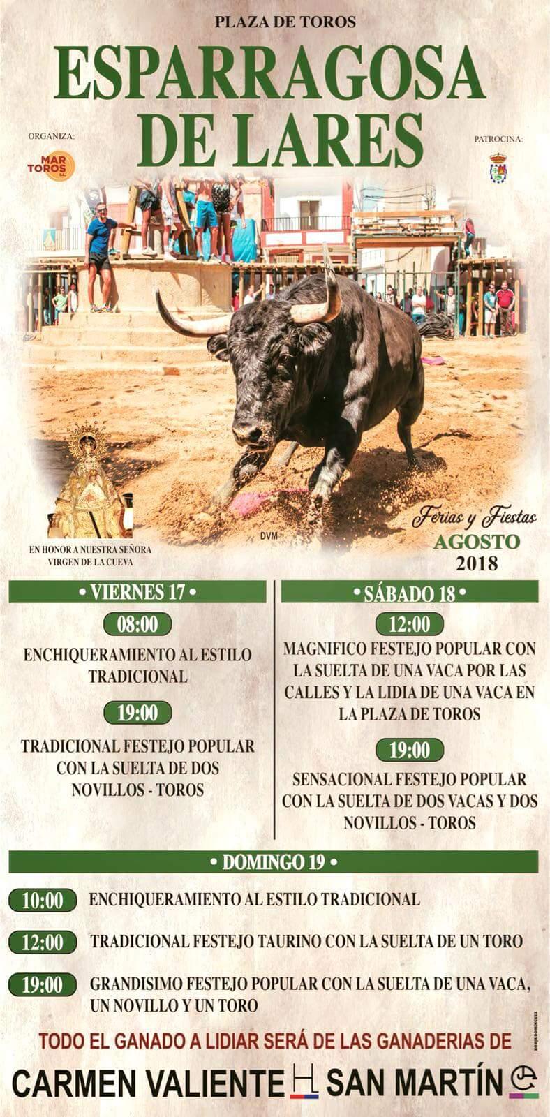 Ferias y fiestas 2018 - Esparragosa de Lares