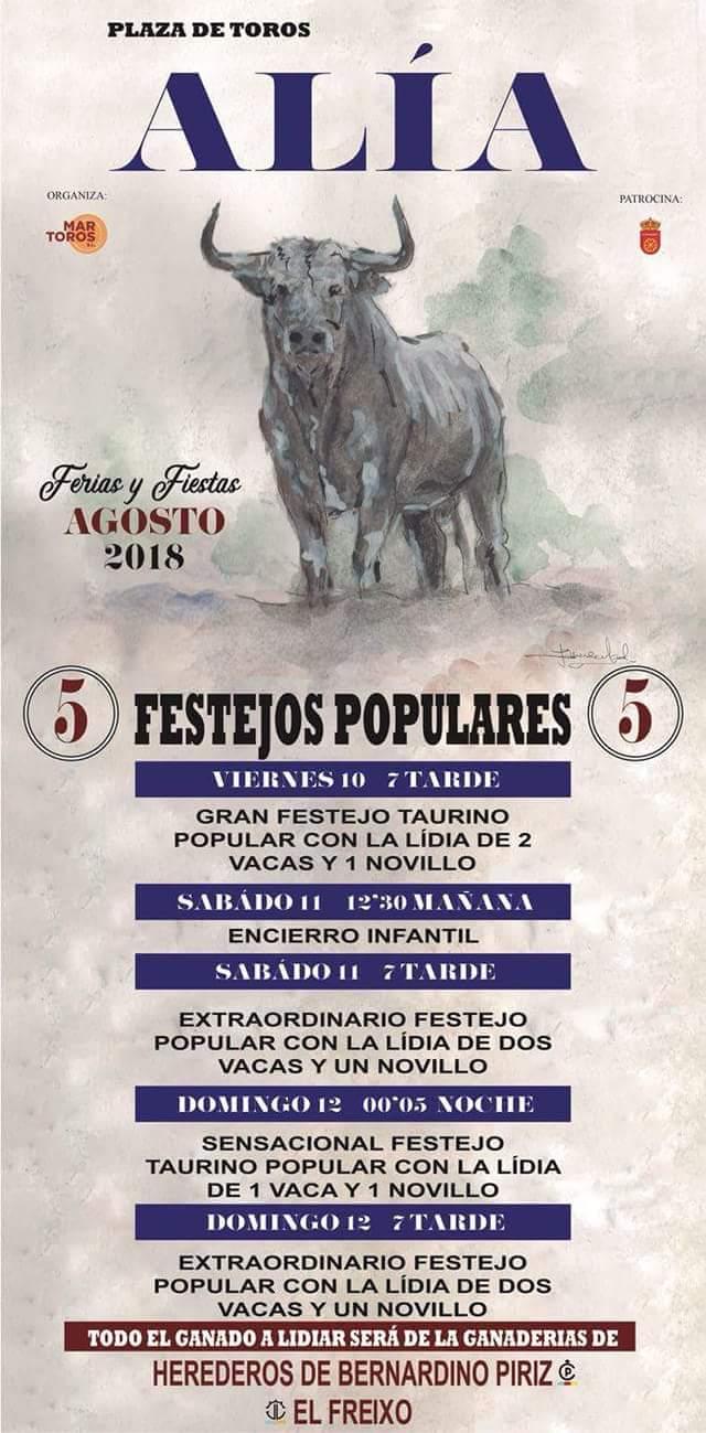 Festejos populares 2018 - Alía