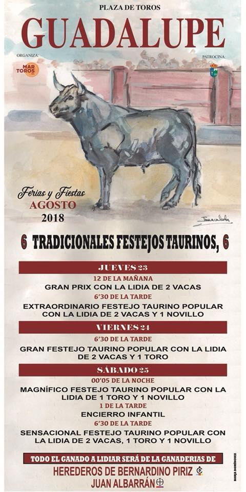 Festejos taurinos 2018 - Guadalupe