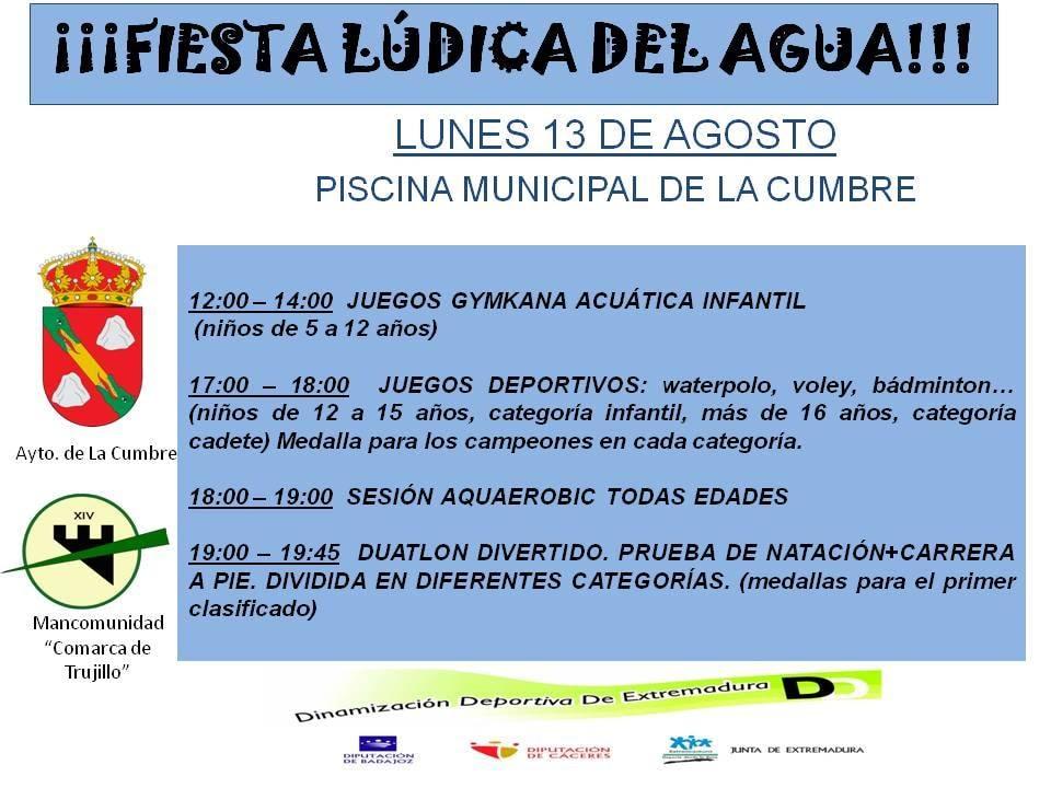 Fiesta lúdica del agua 2018 - La Cumbre