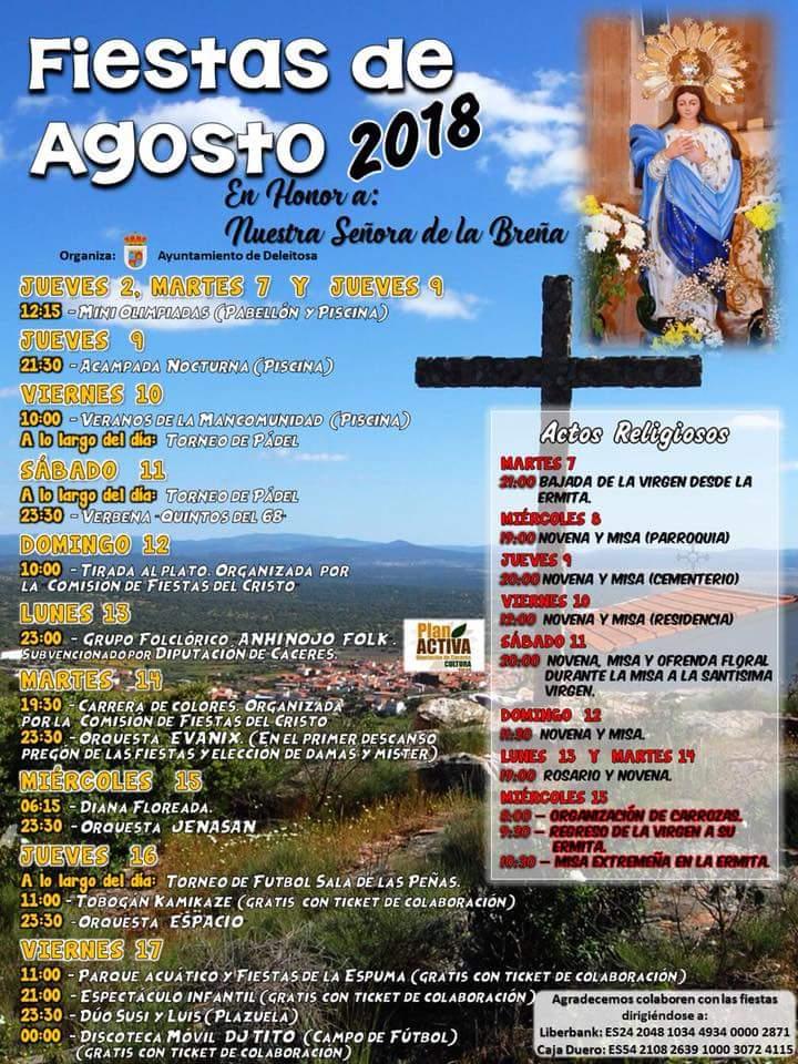 Fiestas de Agosto 2018 - Deleitosa