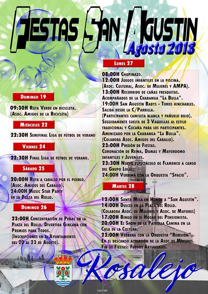 Fiestas de San Agustín 2018 - Rosalejo