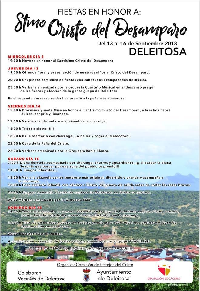 Fiestas del Cristo del Desamparo 2018 - Deleitosa (Cáceres)