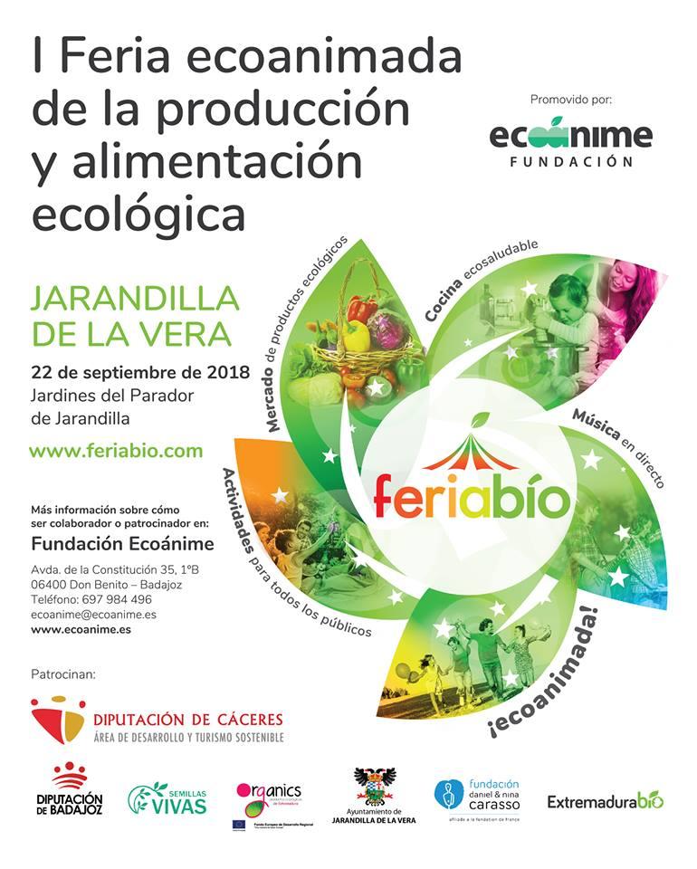 I Feria ecoanimada de la producción y alimentación ecológica - Jarandilla de la Vera