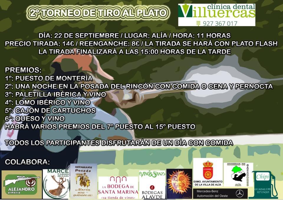 II Torneo de tiro al plato 2018 - Alía (Cáceres)