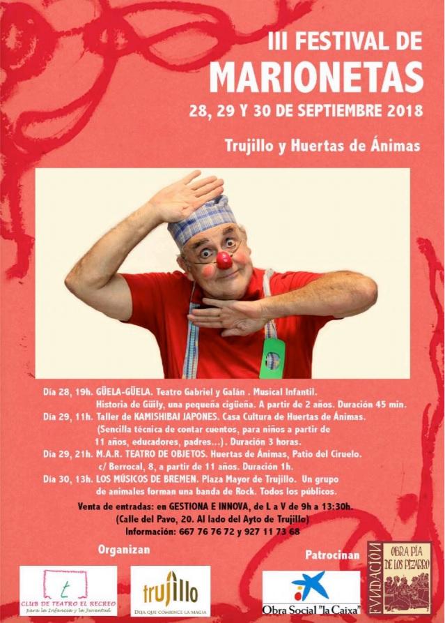 III Festival de marionetas - Trujillo (Cáceres)