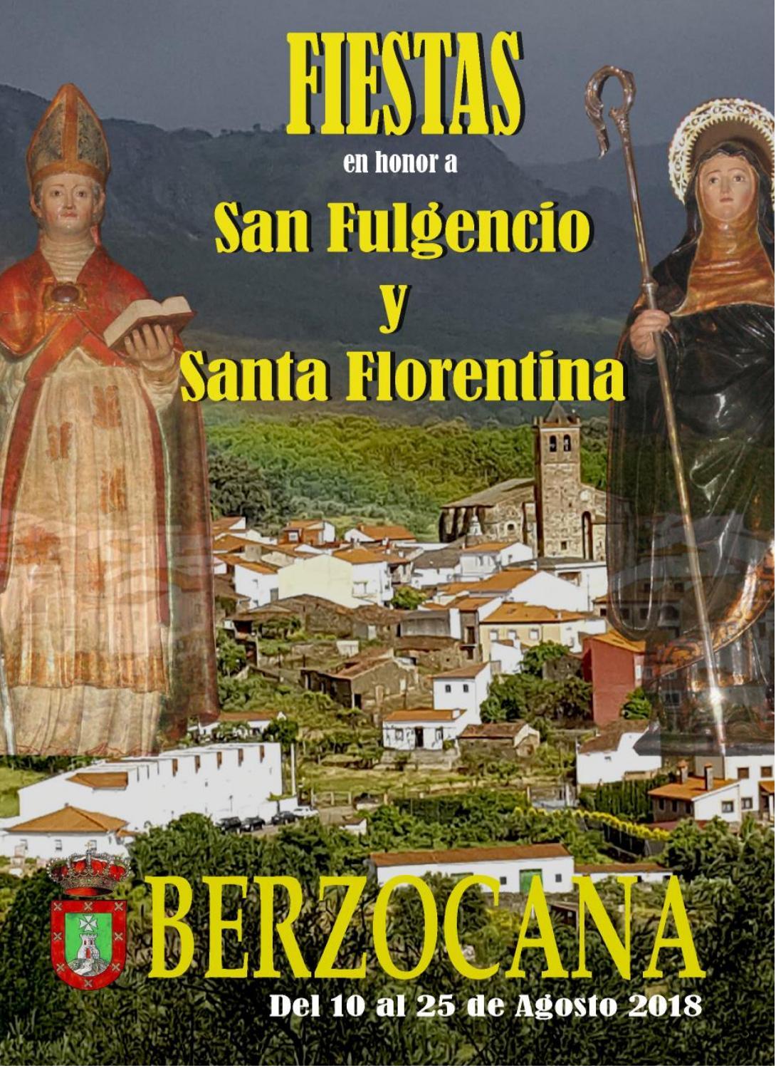 Programa de fiestas en honor a San Fulgencio y Santa Florentina 2018 - Berzocana 1