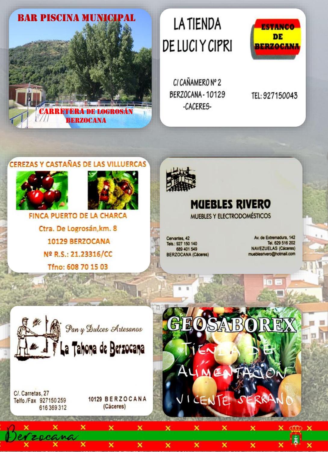 Programa de fiestas en honor a San Fulgencio y Santa Florentina 2018 - Berzocana 13
