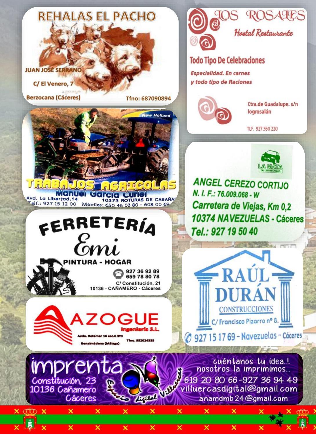 Programa de fiestas en honor a San Fulgencio y Santa Florentina 2018 - Berzocana 18
