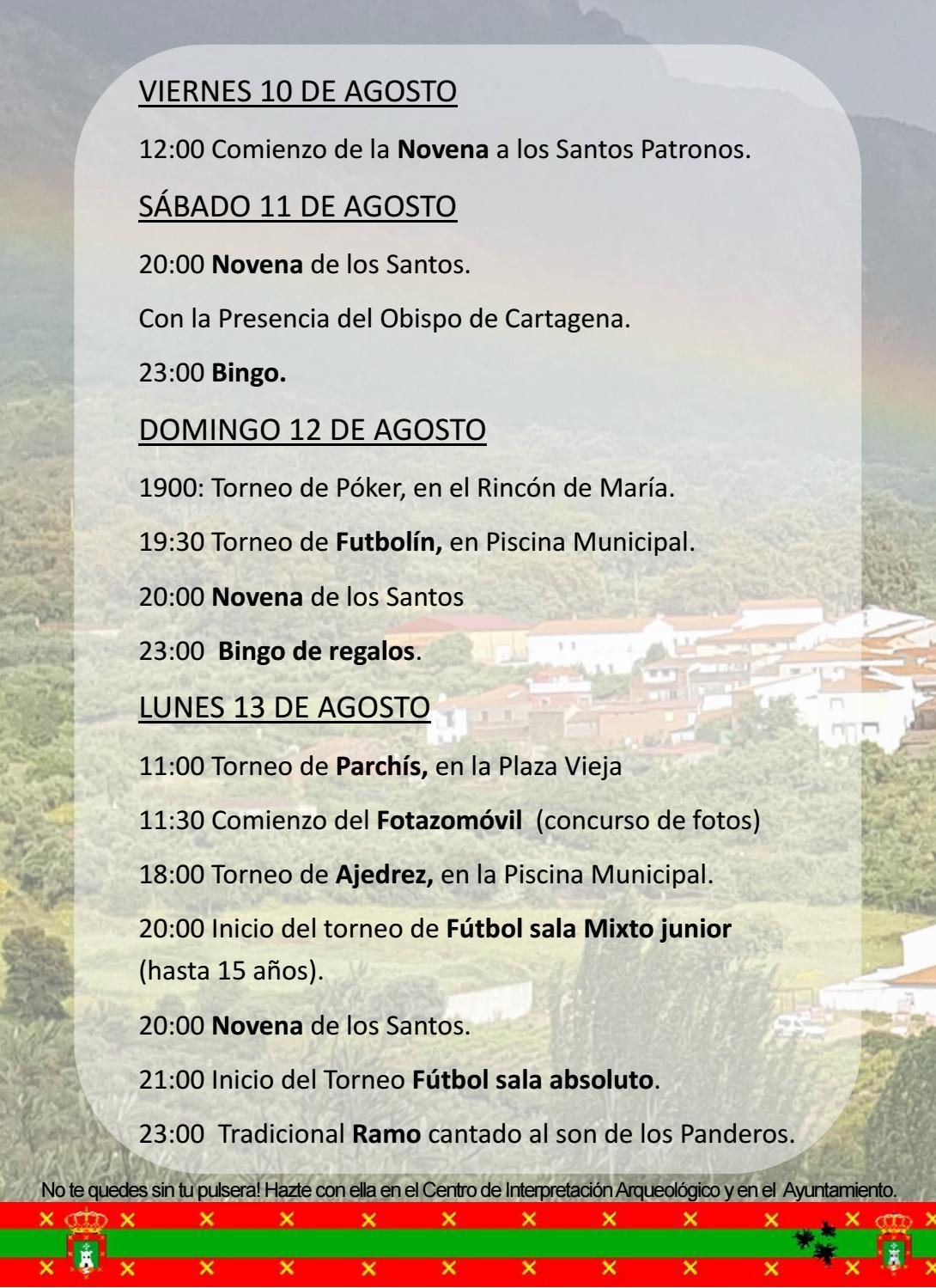 Programa de fiestas en honor a San Fulgencio y Santa Florentina 2018 - Berzocana 4