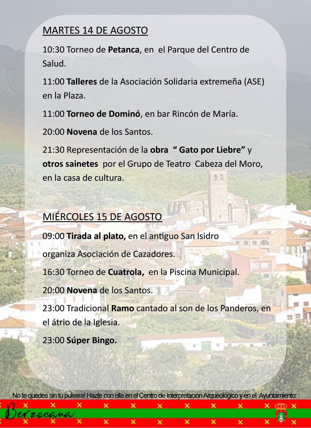 Programa de fiestas en honor a San Fulgencio y Santa Florentina 2018 - Berzocana 5