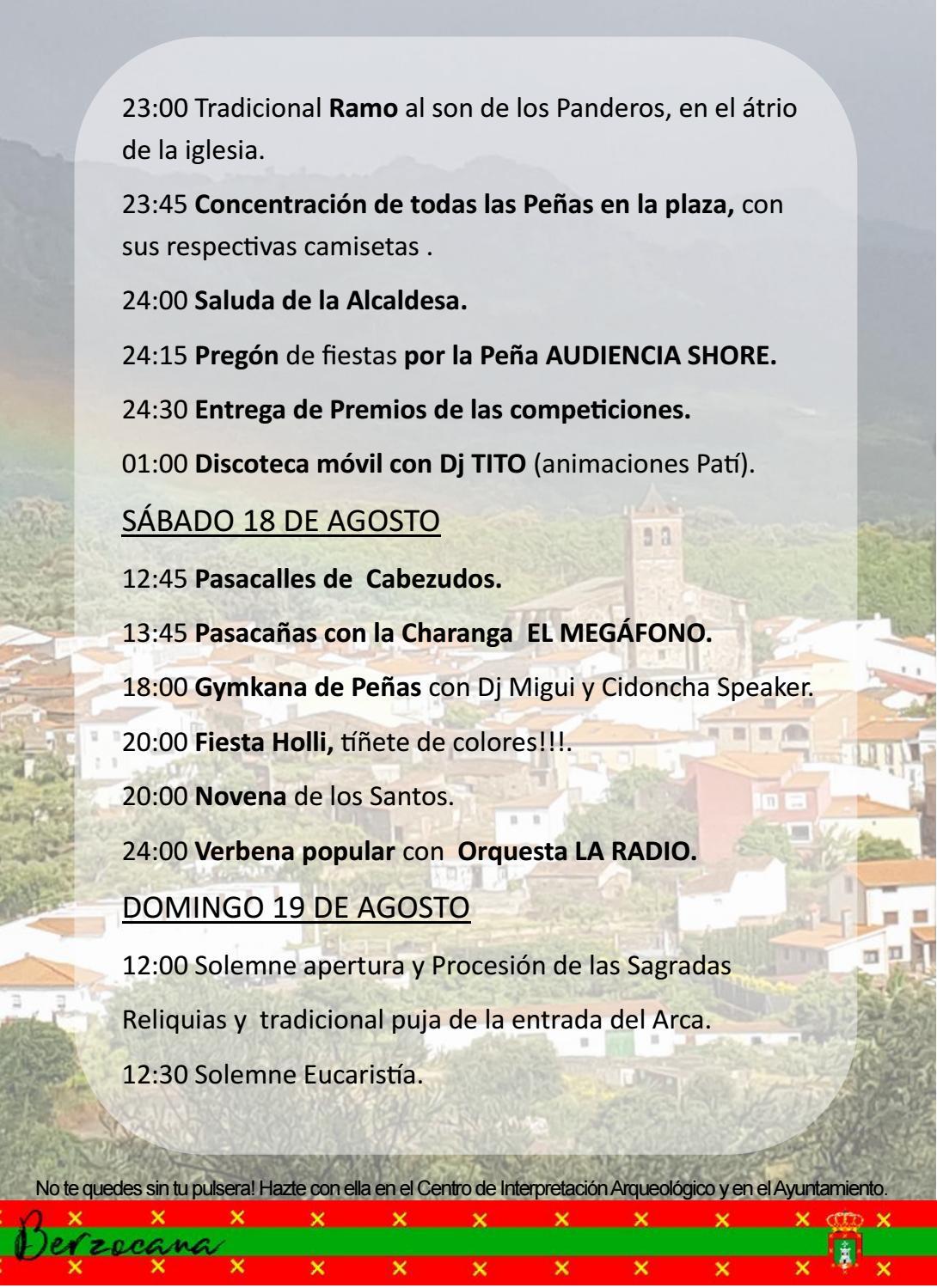 Programa de fiestas en honor a San Fulgencio y Santa Florentina 2018 - Berzocana 7