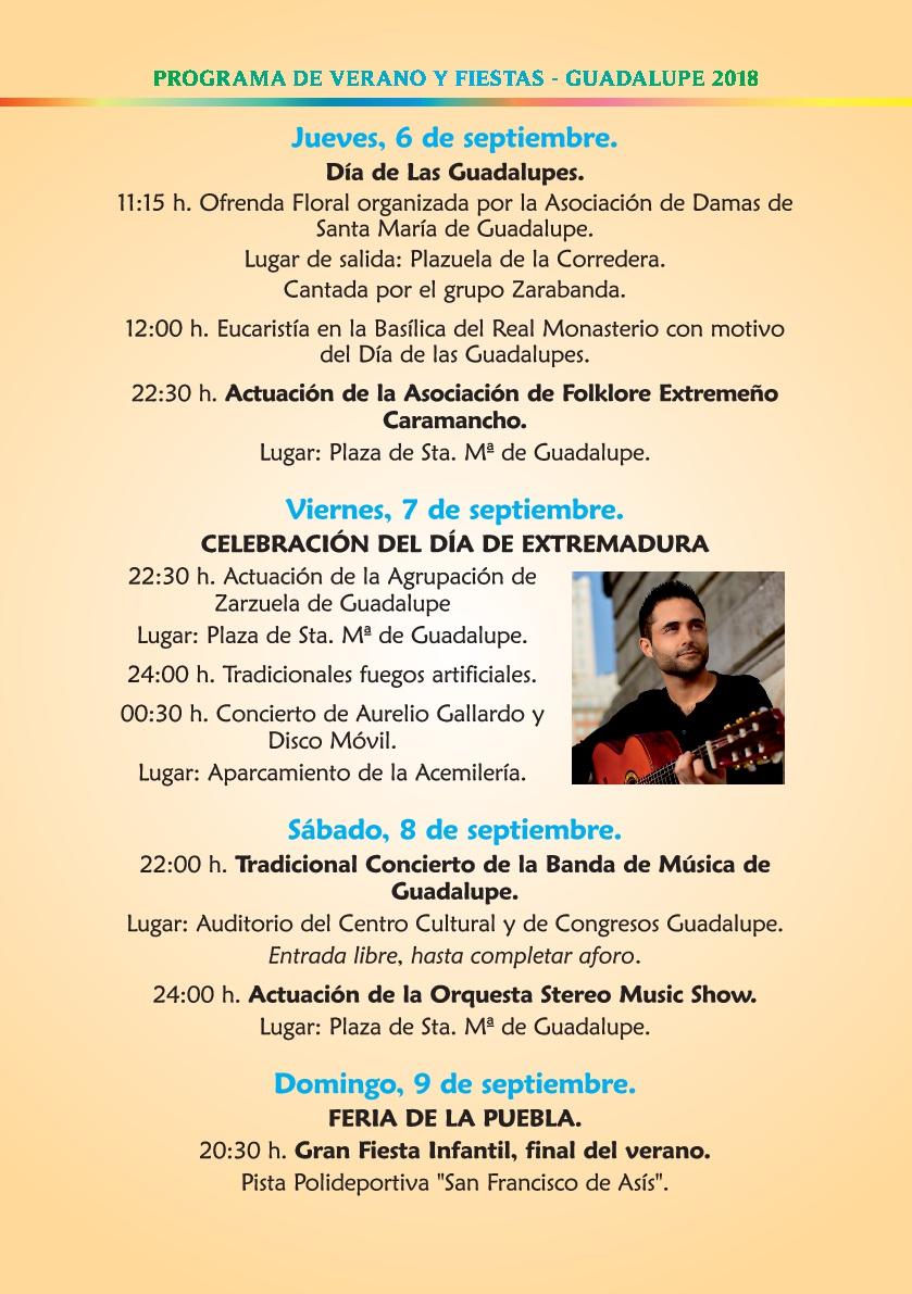 Programa de verano y fiestas 2018 - Guadalupe 11